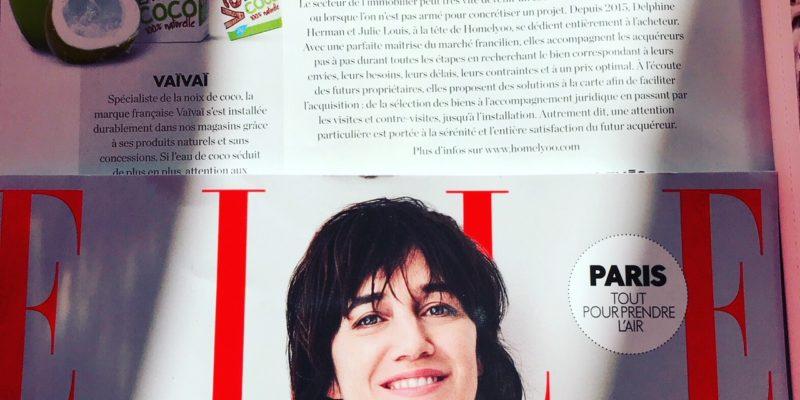 Homelyoo dans le magazine Elle ! Merci