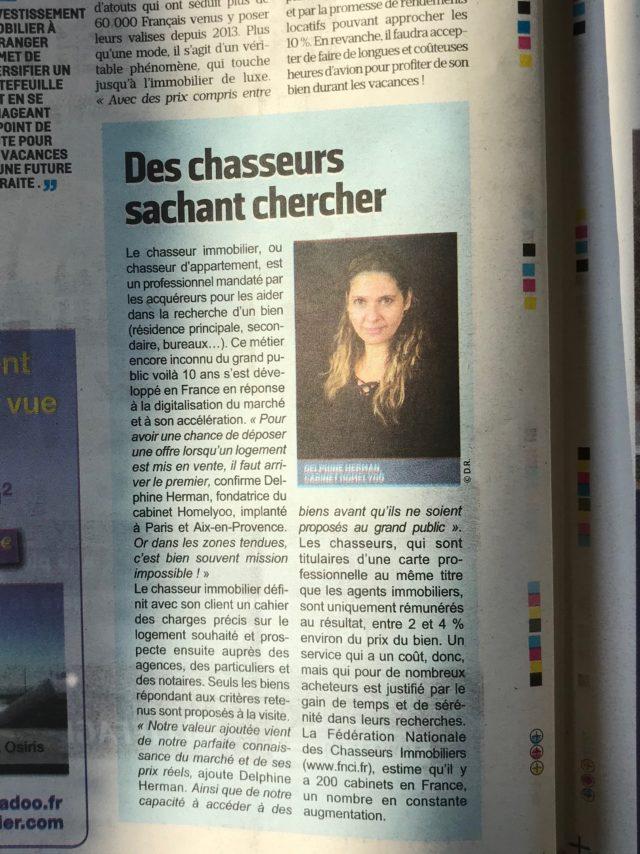 Le parisien sp cial immobilier homelyoo en place homelyoo - Cabinet immobilier parisien ...