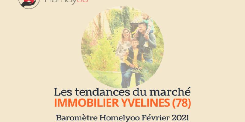Nouveau ! Le baromètre immobilier Homelyoo s'intéresse aux Yvelines : une offre en progression, des prix en très léger recul en moyenne.